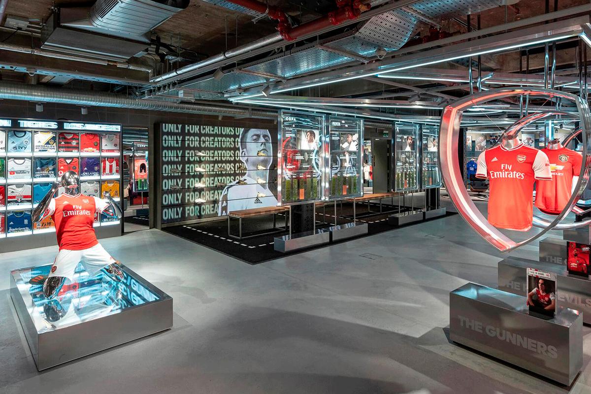 Adidas London flagship store Oxford Street