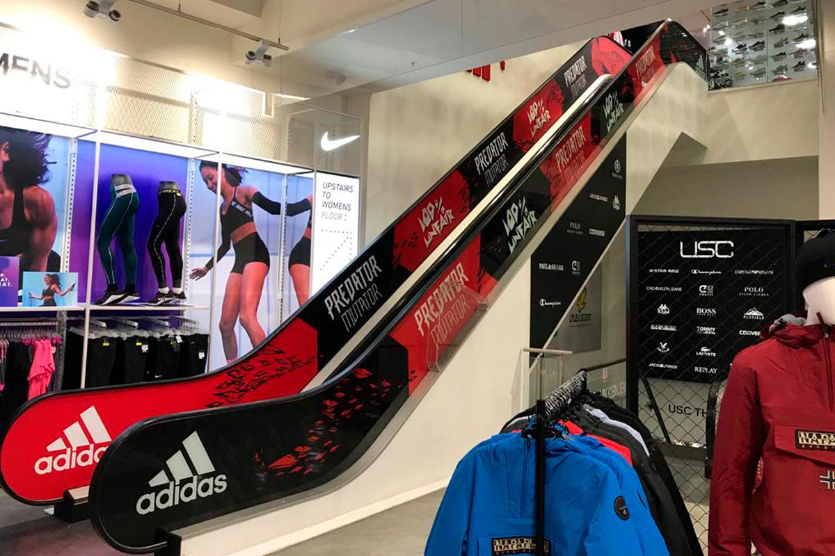 Adidas Predator escalators