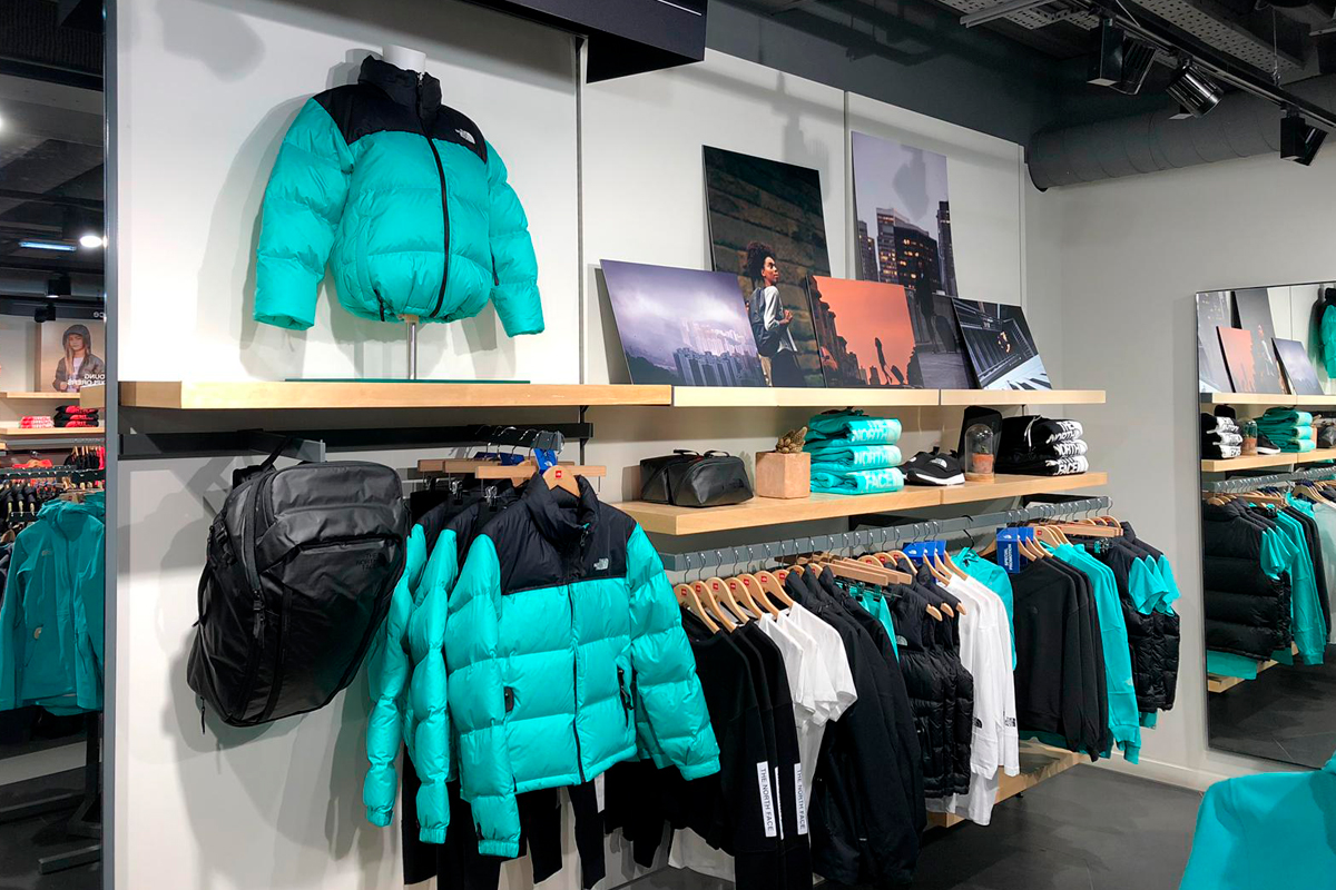 The North Face Regent Street wall