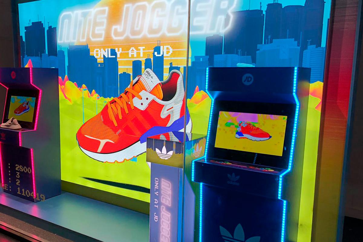 Adidas Nite Jogger window