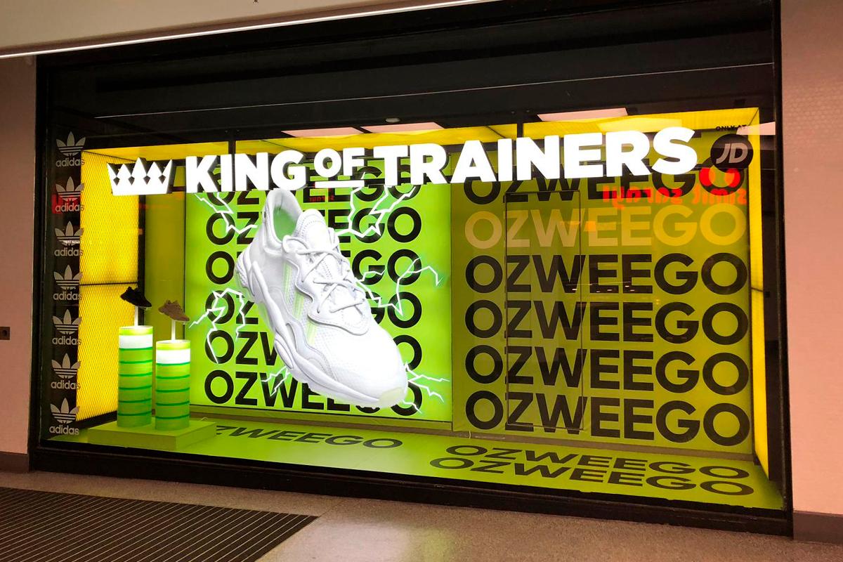 Adidas Ozweego london window