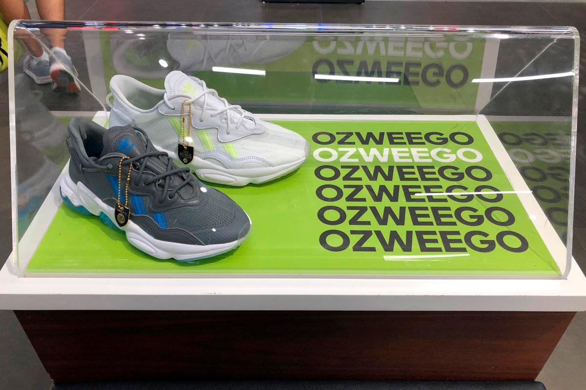 Adidas Ozweego shoe display