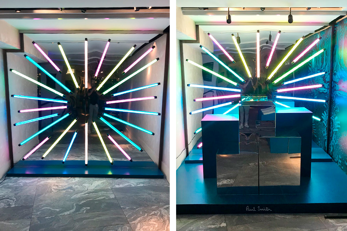 Paul smith harvey nichols tube lights