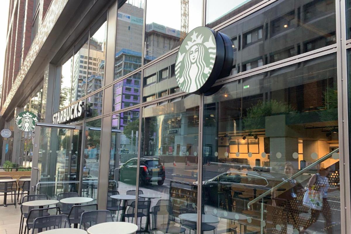 Starbucks external signage