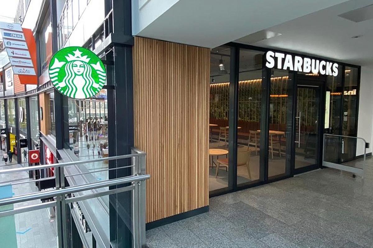 Starbucks Hull illuminated signage